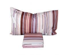 Bassetti Completo Letto Matrimoniale Rad 100% Cotone a 4 Federe Colore Rosa