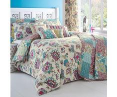 Dreams n Drapes, Biancheria per letto King size, incl. copripiumino e federe, Multicolore (Teal)