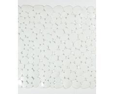 Blue Canyon - Tappetino antiscivolo da doccia, resistente alla muffa, 53 x 53 cm, motivo: ciottoli bianco