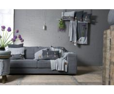 Knit Factory 101115 - Coperta lavorata a maglia Plaid Aran, 130 x 160 cm beige