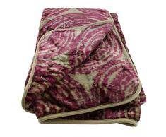 "Gözze, Coperta morbida in simil-cashmere ""Ontario"", Rosso (Rot), 150 x 200 cm"
