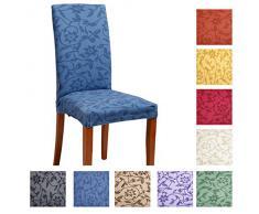 Joker Coprisedia vesti sedia millerighe elasticizzato 2 pezzi linea Fiore L747 SABBIA