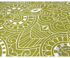 Just Contempo - Copripiumino trapuntato in policotone set di biancheria da letto in stile moderno a righe e fiori copripiumino matrimoniale verde (lime panna muschio pistacchio)