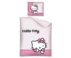 Hello Kitty biancheria da letto, double face 140 x 200 cm, federa 70 x 90 cm 100% cotone