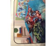 Marvel Avengers Completo Letto ad Una Piazza, Cotone, Azzurro, 150 x 290/90 x 200/50 x 80 cm