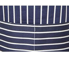 Discounted Cleaning Supplies Grande Grembiule Professionale, Colore: Bianco e Blu, Adatto per cucine di casa, ristoranti, bistrò, Barbecue, Mense Scolastiche, Doppie Tasche, 100% Cotone