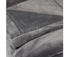 Coperta Matrimoniale Celinatex Montreal, in pile di microfibra, Poliestere, grigio, 220 x 240 cm (Herstellergröße: XL)