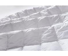 Manteuffel 804832 - Coperta di Piumino Leggero, Bianco, 200 x 200 cm