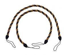 DecoPro Paio di Navy Color Oro Corda fermatenda, 66 cm Style # Cctb Color # 1152