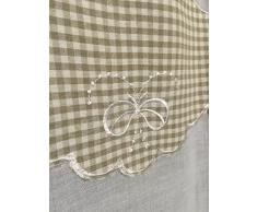 Coppia tendine Tende Veronique - Country chic Tirolese - Cm 60x240 - Beige