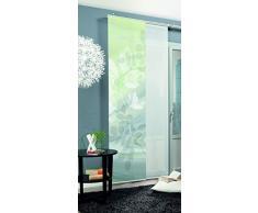Home Fashion Toupillon Tenda a Pannello, Poliestere, Verde, 245 x 60 cm