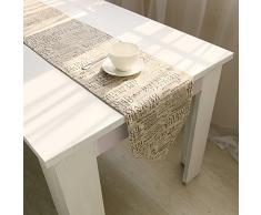 ocjemotovaglie retrò lettera biancheria rettangolo tavoli da pranzo attrezzature runner 30x200cm Decorazione della tavola 11.8x78.7 pollici