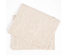 LinenMe 47 x 70 cm set di due tovaglioli da tè in lino/cotone Jazz, beige