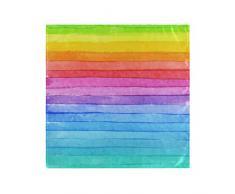 XiangHeFu Tovaglioli Facili da Pulire da tavola 20x20 Pollici Tovaglioli di Stoffa a Righe Arcobaleno al Coperto Lavabili riutilizzabili