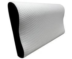 Pikolin Home - Guanciale viscoelastico ergonomico, con doppia fodera, trattamento aloe vera, durezza medio-bassa, 30 x 50 cm, altezza 7-11 cm