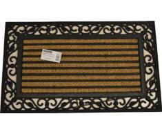 Oryx 5291035 - Fibra di cocco e gomma zerbino 45x75 cm strisce