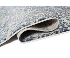 TAPISO Tappeto Salotto Classico Collezione Montreal – Colore Beige Blu Disegno Ornamentale Vintage – Spesso – Diverse Misure S-XXXL 140 x 190 cm