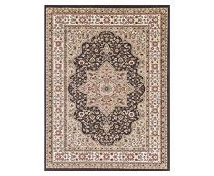 Roma tappeto pavimento tappeto runner 100% polipropilene spessore 12 mm tradizionale look vintage design Home Decor, Polipropilene, Brown, 60 x 110 cm