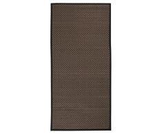 Andiamo - Tappeto in bambù, disponibile in 3 colori, realizzato in bambù 100%, privo di sostanze nocive 133 x 190 cm Marrone a quadri