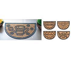 Zerbino in fibra di cocco e gomma decorazioni assortite 40 x 60 cm