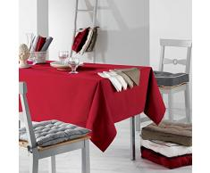 Le Jardin des Cigales Set di 3 tovaglioli da tavolo, Cotone, rosso, 40x1x40 cm