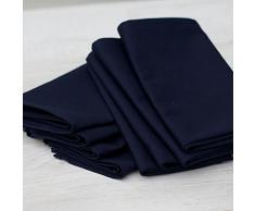 Linenme - Tovaglioli in cotone, Plain, 45 x 45 cm, 12 pz, colore blu scuro