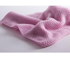Sofficissima Coperta da Bambino in Cashmere al 100% (Cashmere Baby Blanket) - Rosa - Realizzato a mano ad in Scozia con Love Cashmere
