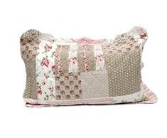1001 Wohntraum 14D8 Quilt Adele - Trapunta Patchwork Shabby, con Cuscino, Motivo a Pois, Stile Vintage, 200 x 230 cm