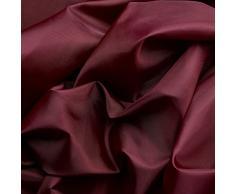 Tessuto taffetá di ottima qualità - superficie lucida nobile - stoffa al metro (bordó)