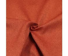 Generico Tessuto Idrorepellente al Metro - Stoffa ANTIMACCHIA in Poliestere - Oxford Canvas per Esterno/Interno - Morbido e Resistente - Altezza 140 cm - 1 QTA = 50 cm - 21 Colori (Arancione)