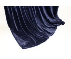 Lifestyle Products - Morbida coperta in microfibra, extra spessa, effetto seta/cashmere al tatto, 150 x 200 cm, colore: Blu scuro