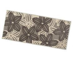 ARREDIAMOINSIEME-nelweb Tappeto Cucina Floreale Tessitura 3D Retro Antiscivolo Moderno Multiuso Passatoia Corridoio Bagno Camera MOD.Enea 57x190 Beige (A)