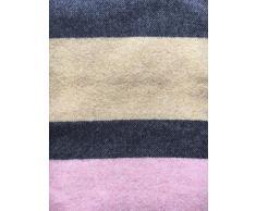 Coperta di lana Coperta plaid 140 x 180 cm Cashmere/Lana Vergine, Lana vergine, Rosa/Gelb/Grau, 140 x 180 cm
