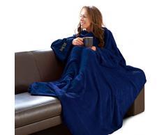 Coperta con maniche Gift House per adulti, blu