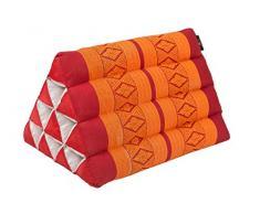 design tradizionale Thai rosso//arancione Cuscino per il collo imbottitura Kapok