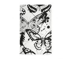 HJHJJ Asciugapiatti da Cucina Set 4 Farfalle Colori Bianco Nero Asciugapiatti da Cucina Large28x18 Asciugapiatti, Strofinacci, Asciugamani Decorativi Waffle, Asciugamani, Strofinacci