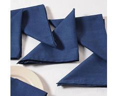 Yuga Plain Dinner tovaglioli Set in 100% cotone Biancheria da tavola tovaglioli Set con 6 pezzi, Cotone, blu navy, 19 x 19 Zoll