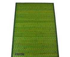 CASA TESSILE Bamboo Tamburato Tappeto passatoia cm 70x140 - Verde