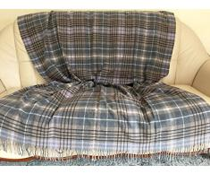 Woll plaid, Plaid Cashmere, Copriletto 190 x 135 cm, Made in Germany