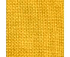 DESHOME Sirma - Tessuto al Metro Idrorepellente per divani cuscini sedie letti copriletto stoffa h 140 resistente (Giallo, 1 metro)