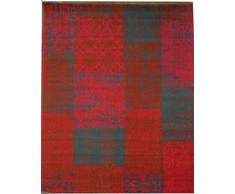 Aspetto Isfahan Distressed/vintage patchwork tappeto, polipropilene, rosso, 120 x 170 cm