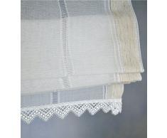 Rollos&More, tenda a pacchetto, con cordoncini, in stile rustico e moderno (ca. 45/140)