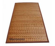 Bamboo Tamburato tappeto passatoia cm 140x200 [VIOLA]
