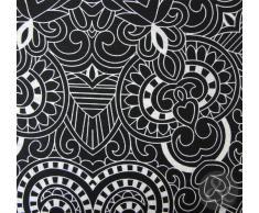 Just Contempo - Copripiumino trapuntato in policotone set di biancheria da letto in stile moderno a righe e fiori copripiumino matrimoniale nero (panna grigio)