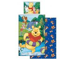 Disney Winnie the Pooh per bambini Biancheria da letto 90x140 cm e 40x55 cm nuovo e sigillato