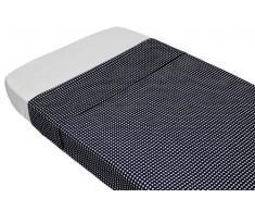 TAFTAN, Lenzuola coprimaterasso in cotone, 100 x 80 cm, Nero (schwarz)