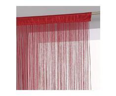 Tenda a fili pronta da appendere - 90 x 200 cm - colore ROSSO