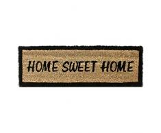 Relaxdays 10016754 Zerbino per Ingresso, Motivo Home Sweet Home, in Fibra di Cocco, 25 X 75 X 1.5 cm, Marrone