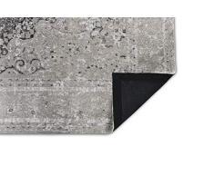 LIFA LIVING Tappeti da Salotto Moderno in ciniglia, Tappeto di Design con Motivo Vintage (Grigio Nero, 160 x 230 cm)