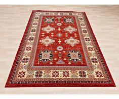 Erdenet Carpet Tappeto Design Orientale, 140x200 cm, Lana, Collezione Ethno, rosso !!! (140 x 200)